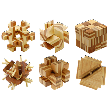 Group Special - Bamboo Wood Puzzles - set of 6