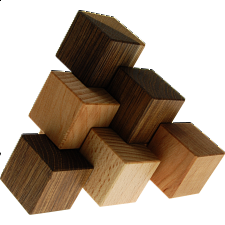 Three-piece Pyramid - Other Wood Puzzles