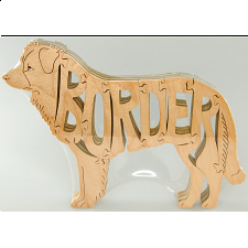 Border Collie Dog - Wooden Jigsaw - Wooden Jigsaws