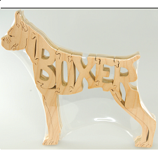 Boxer Dog - Wooden Jigsaw - Wooden Jigsaws