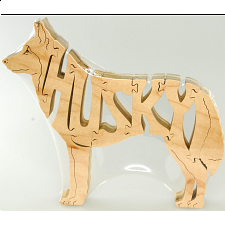 Husky Dog - Wooden Jigsaw - Wooden Jigsaws
