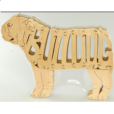 English Bulldog - Wooden Jigsaw