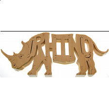 Rhino - Wooden Jigsaw - Wooden Jigsaws