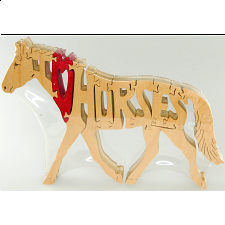 I Love Horses - Wooden Jigsaw
