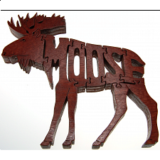 Moose - Wooden Jigsaw - Wooden Jigsaws