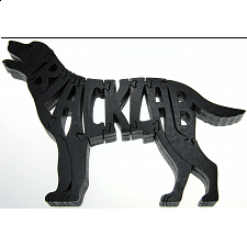 Black Labrador Retriever Dog - Wooden Jigsaw - Wooden Jigsaws