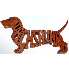 Dachshund Dog - Brown - Wooden Jigsaw