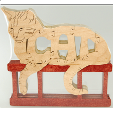 Cat - Wooden Jigsaw
