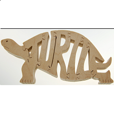 Turtle - Wooden Jigsaw - Wooden Jigsaws