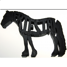 Friesian Horse - Wooden Jigsaw