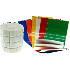 Super Square - 1- Column - DIY - MF8 - White Body - Other Rotational Puzzles