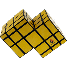Mirror Double Cube - Black Body with Yellow Labels -