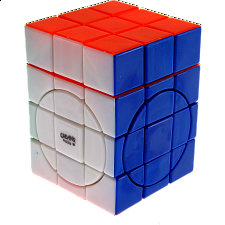 Center shifted 3x3x4 Super i-Cube w/ Evgeniy logo - Stickerless - Rubik's Cube & Others