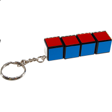 1x1x4 Rotational Keychain - Rubik's Cube & Others
