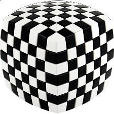 V-CUBE 7 (7x7x7): Illusion - Black and White