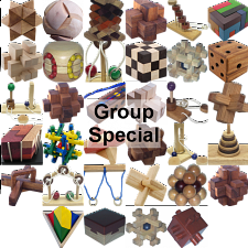 Group Special - a set of 34 wood puzzles