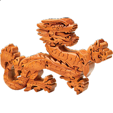 Wooden Dragon Sculpture Puzzle - 3D - Wooden