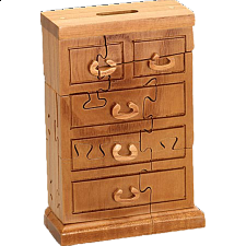 Chest of Drawers Bank - 3D Wooden Jigsaw Puzzle - Wood Puzzles