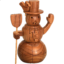 Snowman - 3D Wooden Jigsaw Puzzle