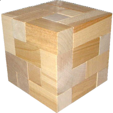 Dee Cube Wooden Brainteaser - 120 Puzzles (Boxed) -