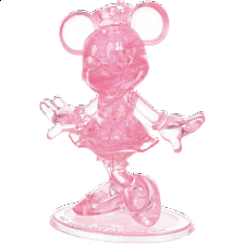 3D Crystal Puzzle - Minnie Mouse (Pink) -