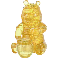 3D Crystal Puzzle - Winnie the Pooh - Plastic Interlocking Puzzles