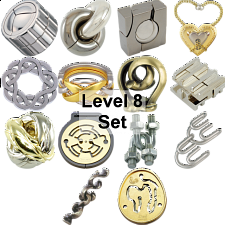 .Level 8 - a set of 14 Hanayama Puzzles