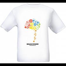 Brain Power - White - T-Shirt -