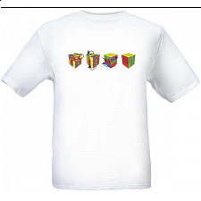 4 Cubes - White - T-Shirt -