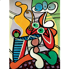 Deluxe Jigsaw - Picasso - Large Still Life on Pedestal - 500-999 Pieces