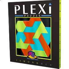 Plexi Puzzle - Iamond Hex - Plastic Interlocking Puzzles