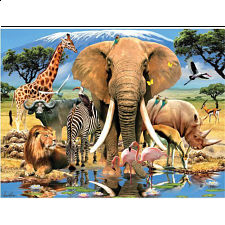 Super 3D - Howard Robinson - Africa - 500-999 Pieces