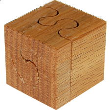 Oak Cube - 4 pc - Wood Puzzles