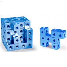 Fight Cube - 4x4x4 - Blue - Wire & Metal Puzzles