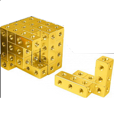 Fight Cube - 4x4x4 - Gold - Wire & Metal Puzzles