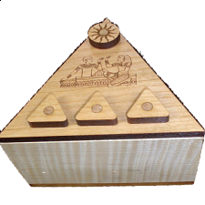 Pyramid Secret Lock Box - Wood Puzzles