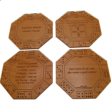 Domino Match Coaster Puzzle - Wood Puzzles