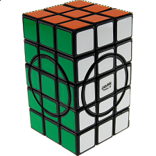 3x3x5 Semi-Super Cuboid (adjacent circles) - Black Body - Other Rotational Puzzles