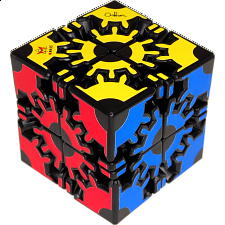 David's Gear Cube - Black body - Meffert's Rotational Puzzles