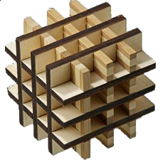 Grid Cube - European Wood Puzzles