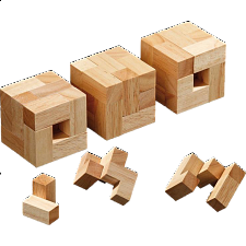Tea Time Cubes - Wood Puzzles
