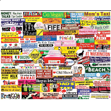 Bumper Stickers - 1000 Pieces