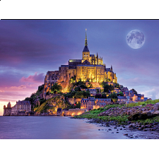 Majestic Castles: Mont Saint Michel, France - Jigsaws