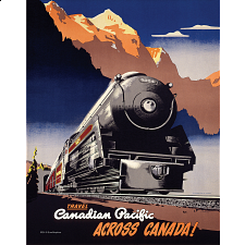 Mini Puzzle - Travel Canadian Pacific Across Canada - 1-100 Pieces