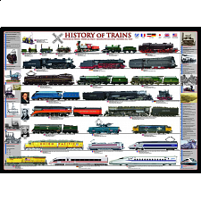 History of Trains - 1000 Pieces