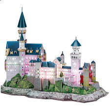 Neuschwanstein Castle - LED Lit - 3D Jigsaw Puzzle - 101-499 Pieces