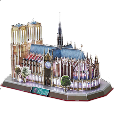 Notre Dame de Paris - LED Lit - 3D Jigsaw Puzzle - 101-499 Pieces