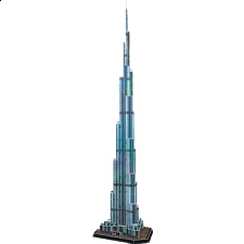 Burj Khalifa - 3D Jigsaw Puzzle
