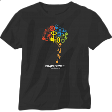 Brain Power - Black - T-Shirt - T-Shirts