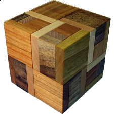 Hooked Cube - European Wood Puzzles